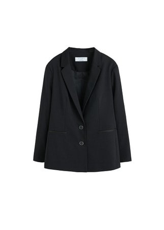 Violeta BY MANGO Structured cotton blazer