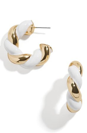 Baublebar Two-Tone Twisted Hoop Earrings | Nordstrom
