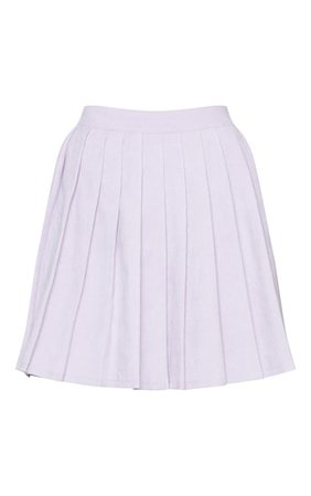 Lilac Cord Pleated Skater Skirt | PrettyLittleThing