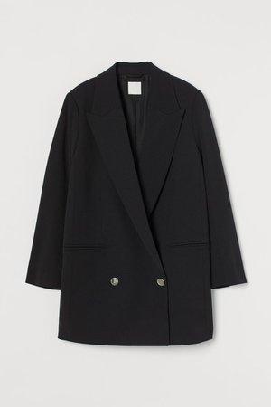 Oversized jacket - Black - Ladies   H&M GB