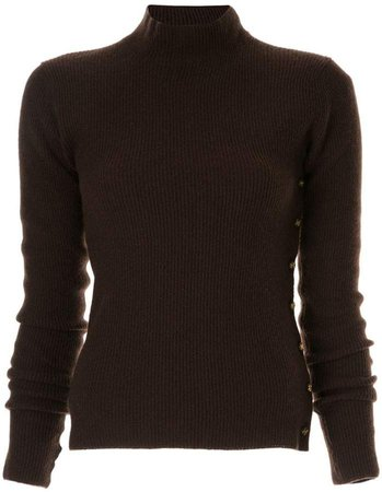 Pre-Owned cashmere ribbed knit top