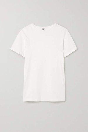 Espera Embroidered Organic Cotton-jersey T-shirt - White