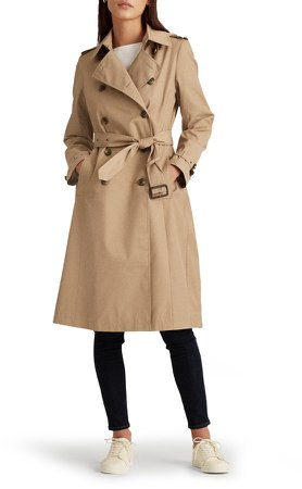 Double Breasted Long Hooded Trench Coat