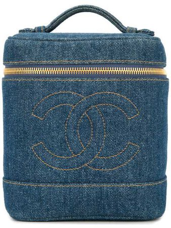 Chanel Vintage Denim CC Vanity Bag - Farfetch