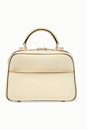 Serie S Small Textured-leather Tote - Ivory