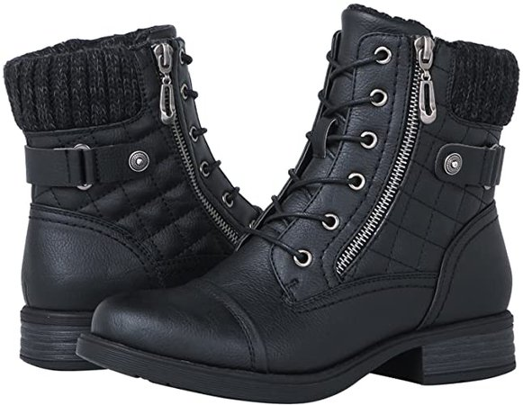 Amazon.com | GLOBALWIN Women's Ankle Booties Fashion Combat Boots | Boots