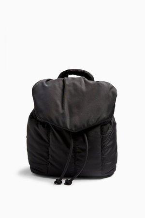 Black Nylon Puffer Backpack | Topshop