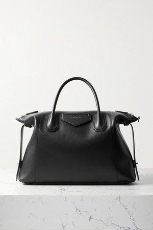 Antigona Soft Medium Leather Tote - Black