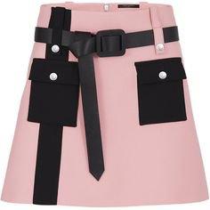 black pink skirt