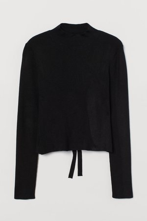 Open-backed Top - Black