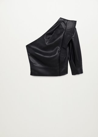 Ruffle shoulders blouse - Women | Mango United Kingdom