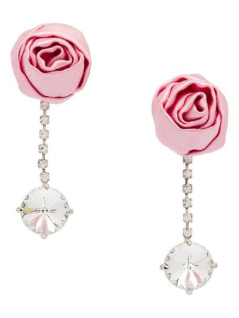 Miu Miu Crystal earrings with rose