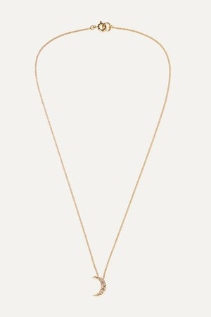 Isabel Marant | Moon gold-tone crystal necklace | NET-A-PORTER.COM