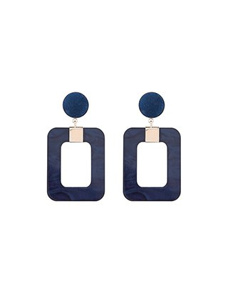 Accessorize | Navy Statement Resin Earrings | Blue | One Size | 5818404000