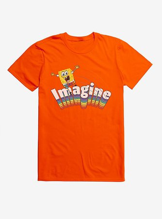 Spongebob Squarepants Imagine Rainbow T-Shirt
