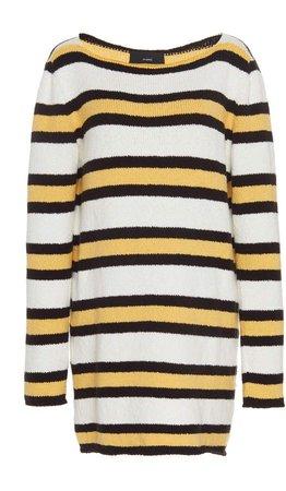 Striped Cotton Knit Mini Dress