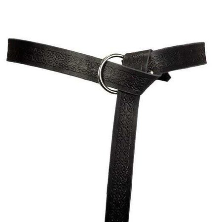 Celtic Ring Belt Black