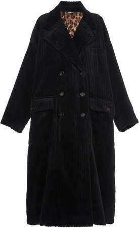 Dolce & Gabbana Oversized Corduroy Coat