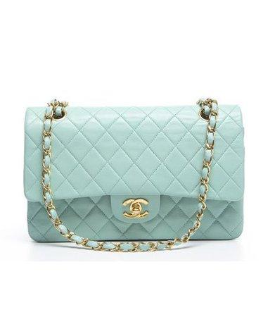 Teal Chanel Bag V2