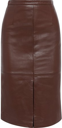 Emelia Leather Pencil Skirt