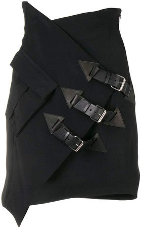 Redemption buckle-detail fitted skirt