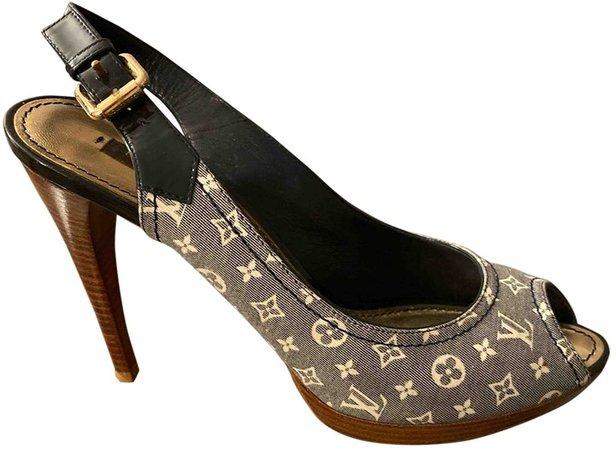 Grey Cloth Sandals