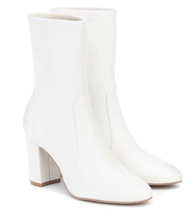 Yuliana Leather Ankle Boots | Stuart Weitzman - Mytheresa