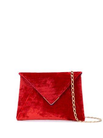 Red Tyler Ellis Mini Lee Clutch Bag | Farfetch.com