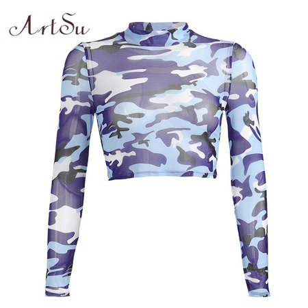 camo mesh top - Google Search