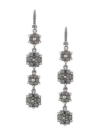 Marchesa Notte Drop flower-cluster Earrings - Farfetch