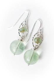 simple light green dangle earrings - Google Search