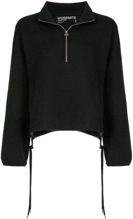 oversized half-zip top