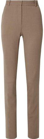 Roosevelt Wool-blend Crepe Skinny Pants - Camel