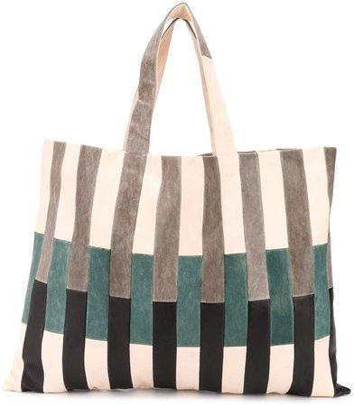 Chacha striped shopper tote