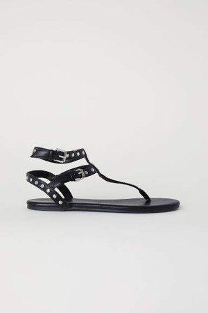 Studded Sandals - Black