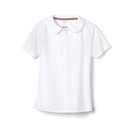 Amazon.com: French Toast Girls' Short Sleeve Peter Pan Collar Blouse: Clothing