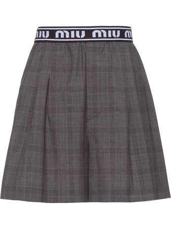 Shop Miu Miu Prince of Wales check shorts with Afterpay - Farfetch Australia