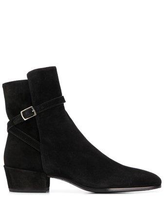 Saint Laurent Clementi Buckle Boots Ss20