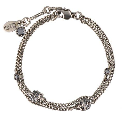 Multi Chain Skull Bracelet