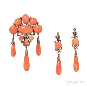 coral earrings - Google Search