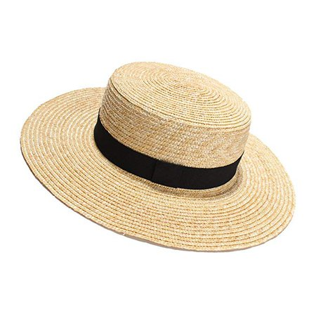Womens' Panama Sun Hat Boater Handwoven Straw Hat for Summer at Amazon Women's Clothing store