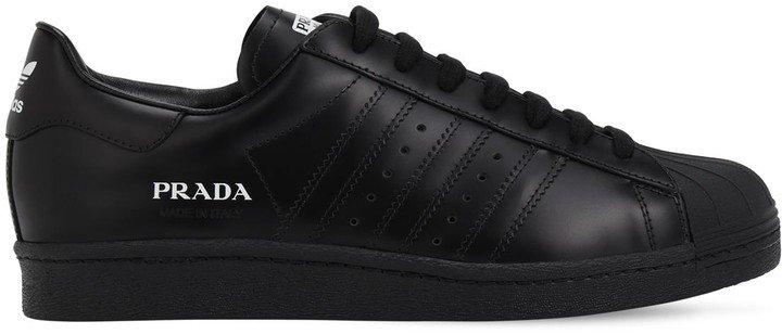 Adidas X Prada Prada Superstar Leather Sneakers