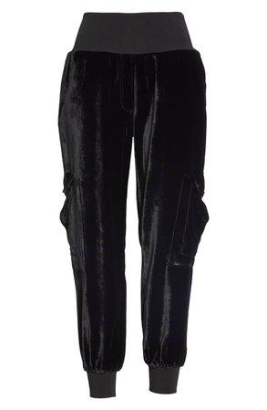 Cinq à Sept Giles Velvet Jogger Pants | Nordstrom