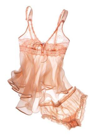 peach lingerie set