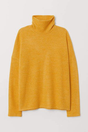 Turtleneck Top - Yellow
