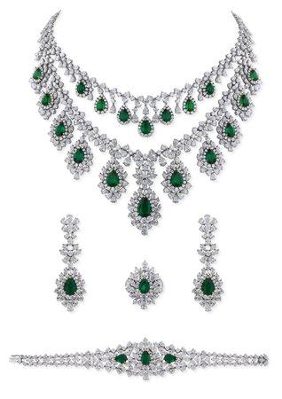 Mahallati, Emerald and diamond parure