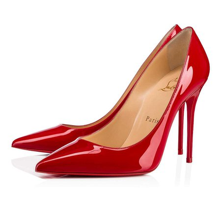 Decollete 554 Patent 100 RED Patent - Women Shoes - Christian Louboutin