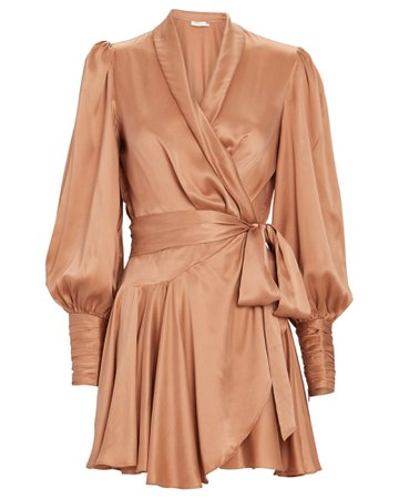 Zimmermann Silk Mini Wrap Dress | INTERMIX®