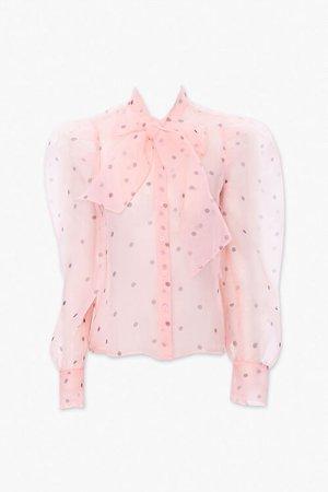 Chiffon Polka Dot Shirt