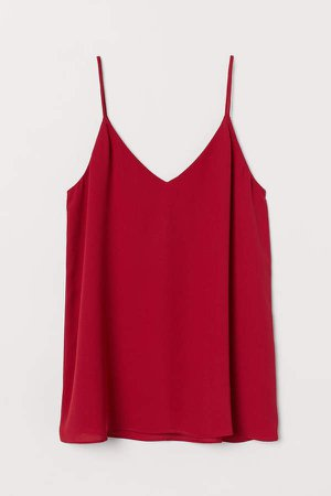 V-neck Camisole Top - Red